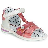 Chaussures Fille Sandales et Nu-pieds Catimini GOROKA Blanc / Rouge