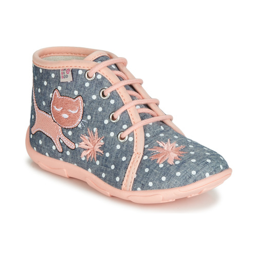 Chaussures Fille Chaussons GBB MERMIDA Gris / Rose