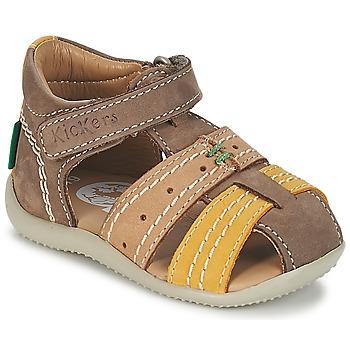 Chaussures Air max tnGarçon Sandales et Nu-pieds Kickers BIGBAZAR Marron / Beige / Jaune