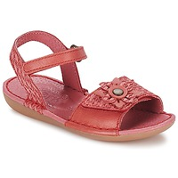 Chaussures Fille Sandales et Nu-pieds Kickers EVANA Rouge corail