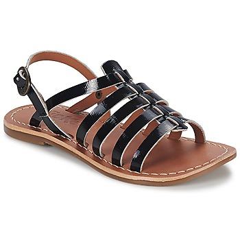 Chaussures Air max tnFille Sandales et Nu-pieds Kickers DIXMILLION Noir vernis