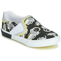 Chaussures Garçon Slip ons Catimini CAMAZO Blanc / Noir