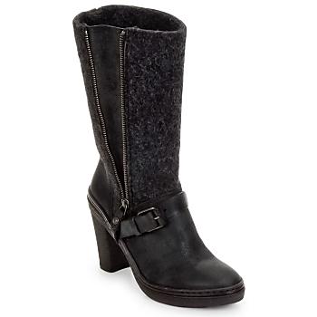 Chaussures Femme Bottes ville Buttero MERENS Noir / Gris