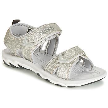 Chaussures Fille Sandales et Nu-pieds Hummel SANDAL GLITTER JR Argenté