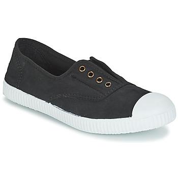 Chaussures Baskets basses Victoria INGLESA ELASTICO TINTADA Noir