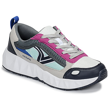 Chaussures Femme Baskets basses Victoria ARISTA MULTICOLOR Blanc / Rose