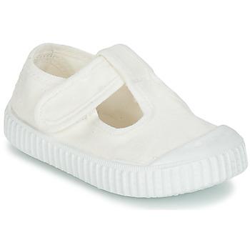 Chaussures Enfant Ballerines / babies Victoria SANDALIA LONA TINTADA Blanc