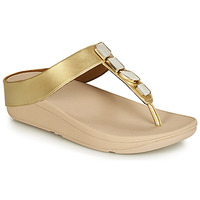 Chaussures Femme Tongs FitFlop FINO SHELLSTONE Doré