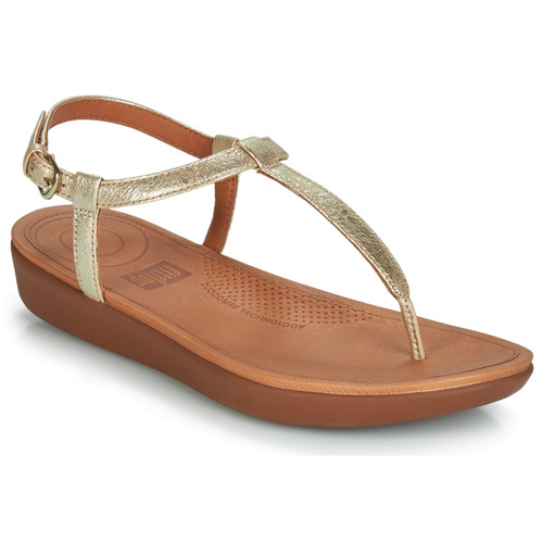 Chaussures Femme Tongs FitFlop TIA Doré