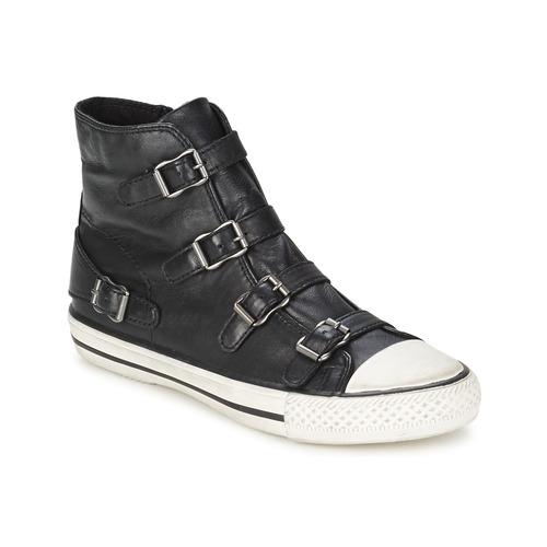Chaussures Femme Baskets montantes Ash VIRGIN noir