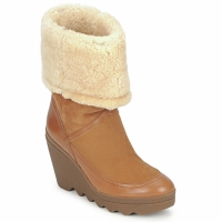 Chaussures Air max tnFemme Bottines Ash VARUSHKA Camel
