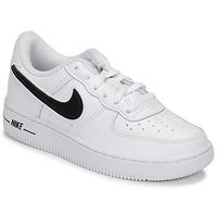 Chaussures Enfant Baskets basses Nike AIR FORCE 1-3 PS Blanc / Noir