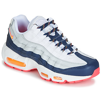 Chaussures Femme Baskets basses Nike AIR MAX 95 W Blanc / Bleu / Orange